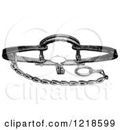 Clipart Of A Black And White Steel Animal Trap For Bears Royalty Free Vector Illustration by Picsburg #COLLC1218599-0181