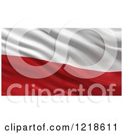 Clipart Of A 3d Waving Flag Of Poland With Rippled Fabric Royalty Free Illustration