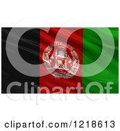 Clipart Of A 3d Waving Flag Of Afghanistan With Rippled Fabric Royalty Free Illustration