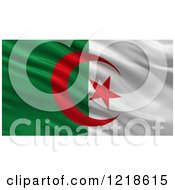 Clipart Of A 3d Waving Flag Of Algeria With Rippled Fabric Royalty Free Illustration
