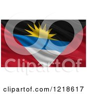 Clipart Of A 3d Waving Flag Of Antigua And Barbuda With Rippled Fabric Royalty Free Illustration