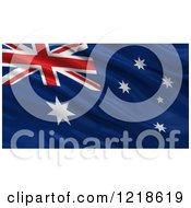 Clipart Of A 3d Waving Flag Of Australia With Rippled Fabric Royalty Free Illustration