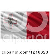 Clipart Of A 3d Waving Flag Of Malta With Rippled Fabric Royalty Free Illustration