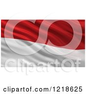 Clipart Of A 3d Waving Flag Of Monaco With Rippled Fabric Royalty Free Illustration