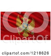 Clipart Of A 3d Waving Flag Of Montenegro With Rippled Fabric Royalty Free Illustration