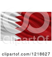 Clipart Of A 3d Waving Flag Of Bahrain With Rippled Fabric Royalty Free Illustration