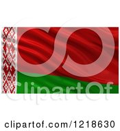 Clipart Of A 3d Waving Flag Of Belarus With Rippled Fabric Royalty Free Illustration