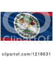 Clipart Of A 3d Waving Flag Of Belize With Rippled Fabric Royalty Free Illustration