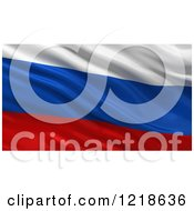 3d Waving Flag Of Russia With Rippled Fabric by stockillustrations