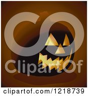 Clipart Of A Glowing Jackolantern Royalty Free Vector Illustration by dero