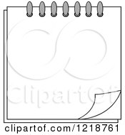 Clipart Of A Turning White Blank Calendar Page Royalty Free Vector Illustration by Hit Toon