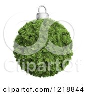 Clipart Of A 3d Fir Christmas Bauble Royalty Free Illustration by Mopic