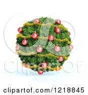Clipart Of A 3d Christmas Bauble Made Of Fir And Ornaments Royalty Free Illustration by Mopic