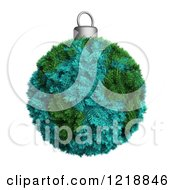 Clipart Of A 3d Fir Earth Christmas Bauble Royalty Free Illustration