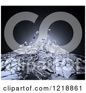Clipart Of 3d Glass Shattering Royalty Free Illustration by Mopic