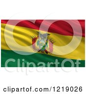 Clipart Of A 3d Waving Flag Of Bolivia With Rippled Fabric Royalty Free Illustration