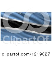 Clipart Of A 3d Waving Flag Of Botswana With Rippled Fabric Royalty Free Illustration