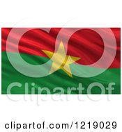 Clipart Of A 3d Waving Flag Of Burkina Faso With Rippled Fabric Royalty Free Illustration