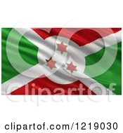 Clipart Of A 3d Waving Flag Of Burundi With Rippled Fabric Royalty Free Illustration
