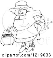 Outlined Female Pilgrim Farting