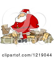 Santa Splitting Wood
