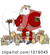 Santa Chopping Wood