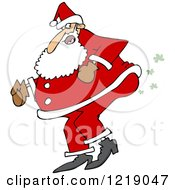 Clipart Of Santa Farting Royalty Free Vector Illustration