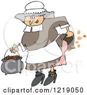 Female Pilgrim Farting