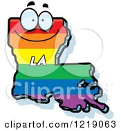 Gay Rainbow State Of Louisiana Character