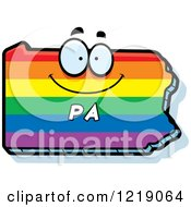 Gay Rainbow State Of Pennsylvania Character