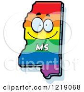 Gay Rainbow State Of Mississippi Character