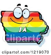 Gay Rainbow State Of Iowa Character