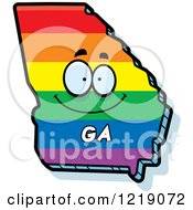 Gay Rainbow State Of Georgia Character