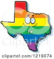 Gay Rainbow State Of Texas Character