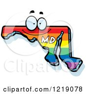 Gay Rainbow State Of Maryland Character