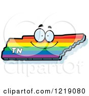 Clipart Of A Gay Rainbow State Of Tennessee Character Royalty Free Vector Illustration