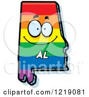 Clipart Of A Gay Rainbow State Of Alabama Character Royalty Free Vector Illustration by Cory Thoman