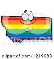 Clipart Of A Gay Rainbow State Of Montana Character Royalty Free Vector Illustration by Cory Thoman