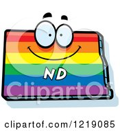 Clipart Of A Gay Rainbow State Of North Dakota Character Royalty Free Vector Illustration by Cory Thoman