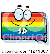 Clipart Of A Gay Rainbow State Of South Dakota Character Royalty Free Vector Illustration by Cory Thoman