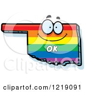 Clipart Of A Gay Rainbow State Of Oklahoma Character Royalty Free Vector Illustration by Cory Thoman