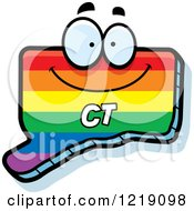 Clipart Of A Gay Rainbow State Of Connecticut Character Royalty Free Vector Illustration by Cory Thoman