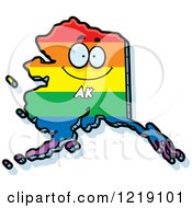 Clipart Of A Gay Rainbow State Of Alaska Character Royalty Free Vector Illustration by Cory Thoman