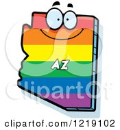 Clipart Of A Gay Rainbow State Of Arizona Character Royalty Free Vector Illustration by Cory Thoman
