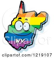 Clipart Of A Gay Rainbow State Of West Virginia Character Royalty Free Vector Illustration by Cory Thoman