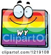 Clipart Of A Gay Rainbow State Of Wyoming Character Royalty Free Vector Illustration by Cory Thoman