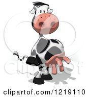 Clipart Of A Cartoon Cow Standing Upright Royalty Free Illustration