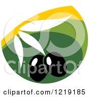 Clipart Of A Black Olive Design Royalty Free Vector Illustration