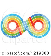 Clipart Of A Colorful Infinity A B Symbol Royalty Free Vector Illustration