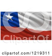 Clipart Of A 3d Waving Flag Of Chile With Rippled Fabric Royalty Free Illustration